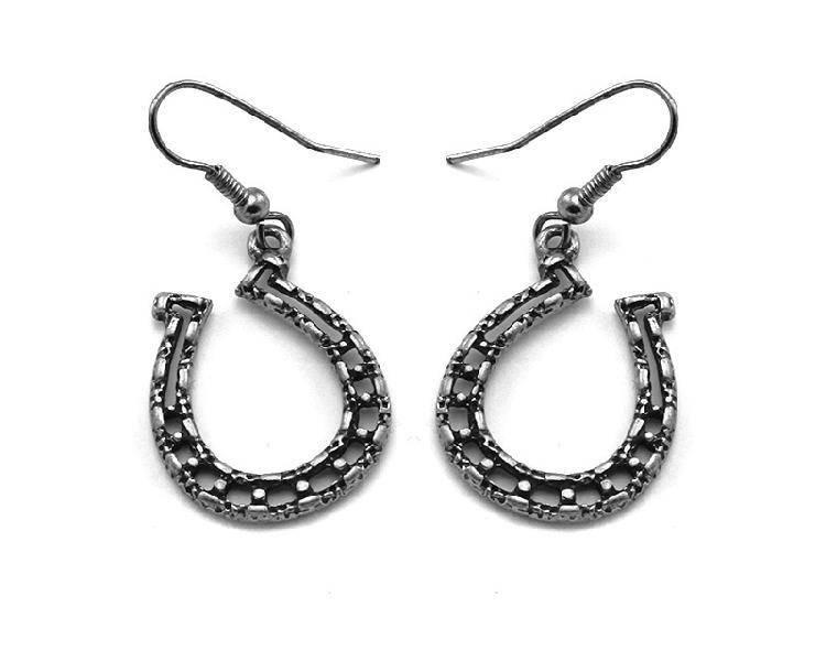 Wex Earrings Silver Horseshoe