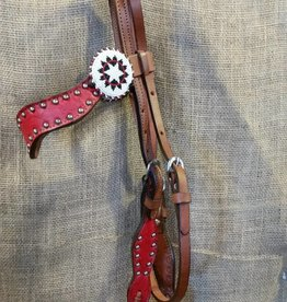 Alamo Saddlery New Wave Headstall Red Horse