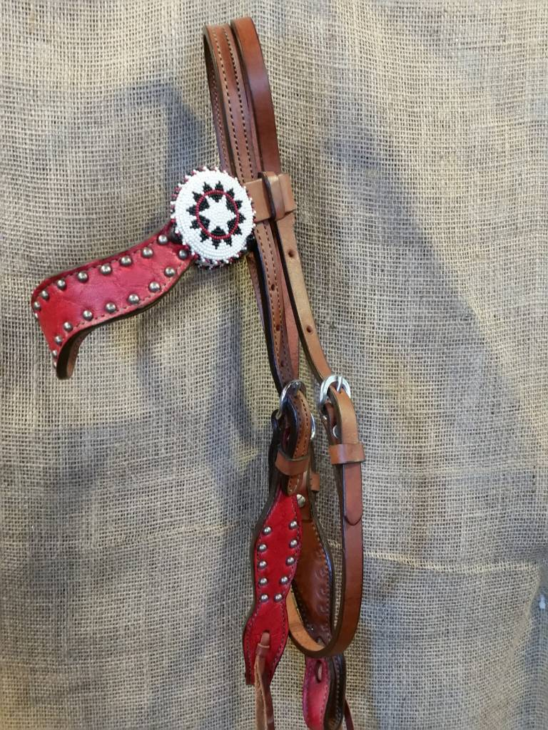 Alamo New Wave Headstall Red Horse