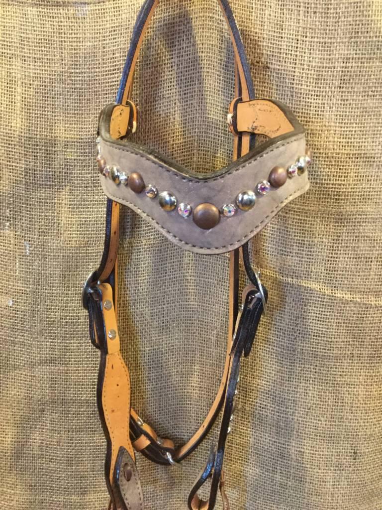 Alamo Saddlery New Wave Headstall Copper Horse