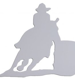 Barrel Racer Magnet White Large