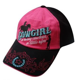 Cowgirl Ball Cap - So Many Cowboys So Little Rope