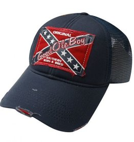 Good Ole Boy Ball Cap Red Navy Adult