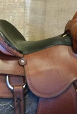 "Circle L Circle L Western Saddle Smooth Med Oil 15"" FQHB"