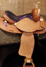 "Circle L Canyon Rock U.S.A. Barrel Saddle, Purple 15"""
