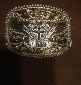 Western Fashion Accessories Love Faith Luck Belt Buckle