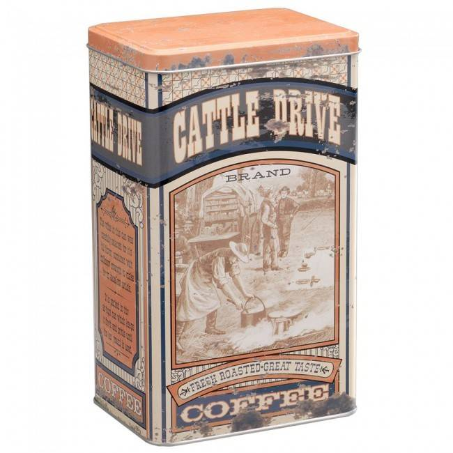 Tough-1 Cattle Drive Coffee Tin