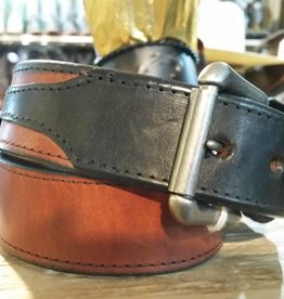 Rockmount Ranch Wear Adult - Tan Belt w/Black Billets