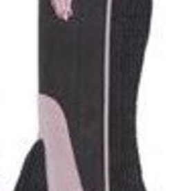 Lamprey Equi-Grip Synthetic Half Chaps Purp/Black Childs Med