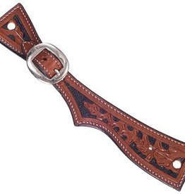 Tough1 Ladies Light Oil Spur Straps w/ Black Paint