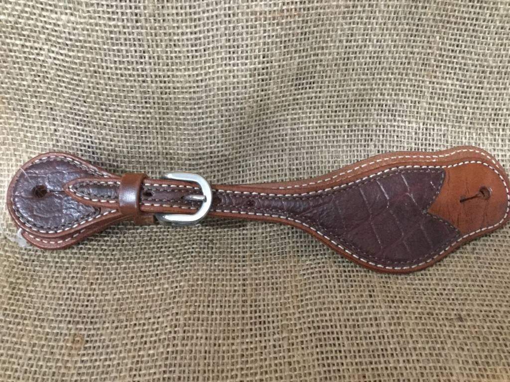 Circle L Circle L Gator Spur Straps Brown Adult