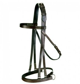 Tough-1 English Jumping Hack Bridle - Horse Size Brown