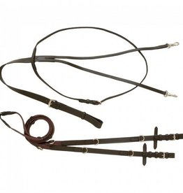 Tough-1 Leather German Martingale Rein Set