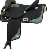 "Abetta Abetta® Gator Package Set: Saddle w/Matching Bridle, B/C, Pad - 18Lb - QHB - 16"""