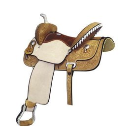 "Billy Cook Saddlery Billy Cook Saddlery - Paycheck Supreme Barrel Saddle, 27Lb - FQHB, 15"" (Flank Cinch Not Included)"