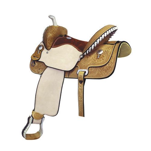 "Billy Cook Saddlery Billy Cook Saddlery - Paycheck Supreme Barrel Saddle, 27Lb - FQHB, 15"" (Flank Cinch Not Included)"