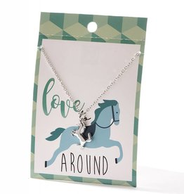 Giftcraft Inc. Necklace - Love Horsing Around