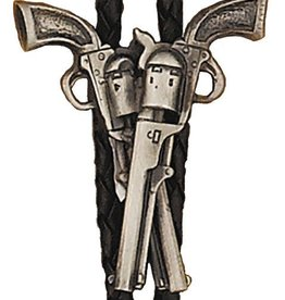 Western Express Bolo Tie - Crossed Pistols