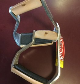 Showman Angled Stirrups w/ Tread Angled Adult
