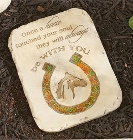 Giftcraft Inc. Mosaic Glass Horse Memorial Stepping Stone - 7.7x0.6x10.2(in)