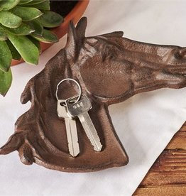 Giftcraft Inc. Cast Iron Horse Head Decor Tray