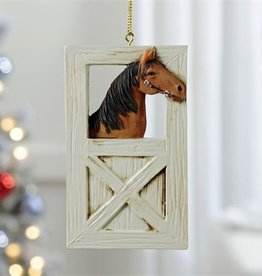 Giftcraft Inc. Horse & Stable Design Ornament - 2.4X4.5(in)