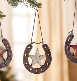 Giftcraft Inc. Horse Shoe Ornament - 2.8x0.4x2.5(in)