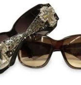 Showman Sunglassses - Spur Rowel Crystal BK