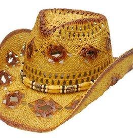 Western Express Diamond Hole Straw Hat