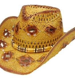 WEX Diamond Hole Straw Hat
