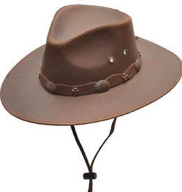 Western Express Brown Leather Hat
