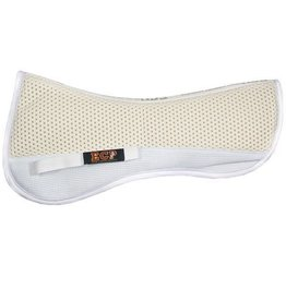 Equine Comfort Products ECP Grip Tech Half Pad White