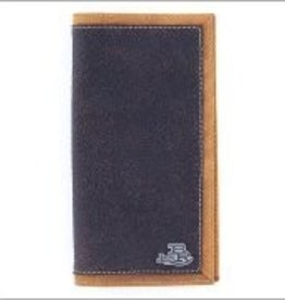 M & F Western Products Wallet - Bent Rail Brown Rodeo Checkbook