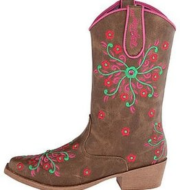M & F Western Products Children's Savvy Blazin Roxx Boots Brown 12 - $54.95 @ 25% Off!