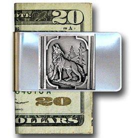 WEX Money Clip - Silver Wolf
