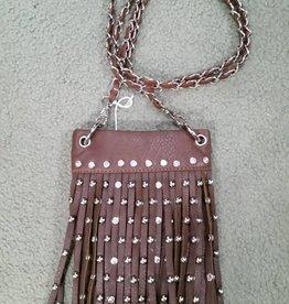 Lamprey Handbag - Small Fringe Brown