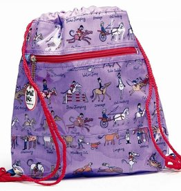 Backpack - Horse Design Purple