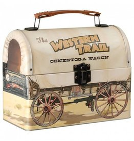 JT International Covered Wagon Lunchbox Brown Wagon