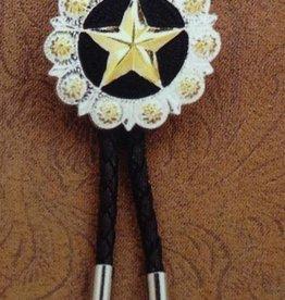 M & F Western Products Bolo Tie - Black w/ Star
