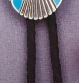 Bolo Tie - Southwestern Oval Concho Turquoise Stone