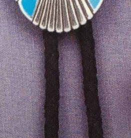 Double S Bolo Tie - Southwestern Oval Concho Turquoise Stone