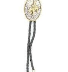 M & F Bolo Tie - Oval Bucking Horse