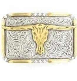 M & F Western Products Crumrine Skull Buckle