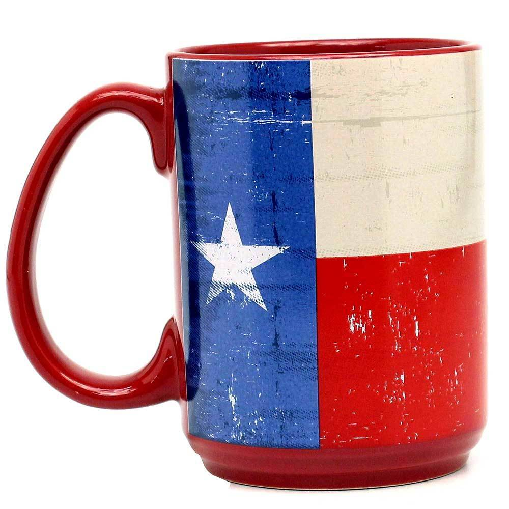 M F Western Products Coffee Mug Texas Flag 16oz Gass Horse