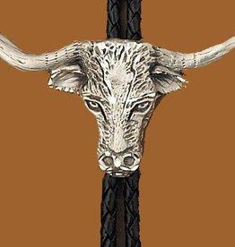 WEX Bolo Tie - Pewter Longhorn Steer Head Bolo