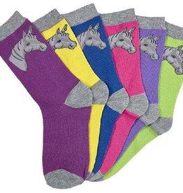 Western Express Women's Horse Head Socks