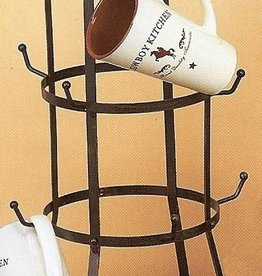 M & F Western Products Coffee Mug Rack With Star - Holds 12 Mugs