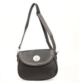 """M & F Handbag - Shoulder Bag, Black - 11""""x4""""x8.5"""""""