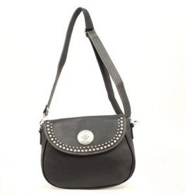 "M & F Western Products Handbag - Shoulder Bag, Black - 11""x4""x8.5"""