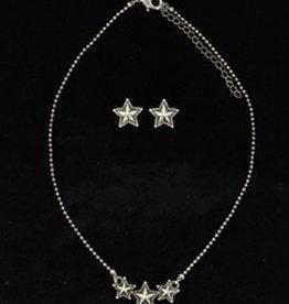 Set - Necklace/Earrings Horseshoe Texas Star